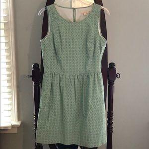 Green Brooks Brothers Sleeveless Cocktail Dress